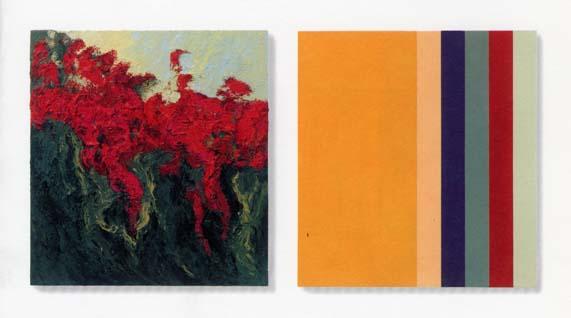 Bert Loerakker, o.T., 2 x 70 x 65cm, Öl auf Leinwand auf Holz, 2002